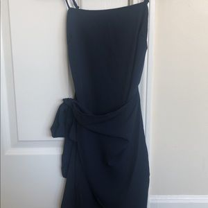 Dresses & Skirts - Double a tie Wrap dress in Navy | Lucy in the Sky